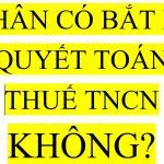 Cá nhân có phải quyết toán thuế TNCN không